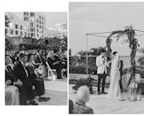"""<p>If you aren't into bold blooms, frills, and froth—skip it. This wedding overlooking Miami Beach was case in point, and void of color and florals per the bride's request, substituting greenery for a natural element as needed. There's no shame in keeping things simple, and as this ceremony illustrates, it can be undeniably chic. Here, a super-strict color palette of black, white, gold, and greenery lent itself to a minimal yet deco feel—coupled with subtle architectural and galactic motifs, like the wrought-iron chuppah that overlooked the ocean. Palm leaves draped delicately to one side of the framework gave this otherwise graphic, industrial chuppah some movement, without compromising its simplicity.<br></p><p><em>Pictured: <a href=""""https://www.harpersbazaar.com/wedding/photos/a28280742/jenna-rosenstein-wedding/"""" rel=""""nofollow noopener"""" target=""""_blank"""" data-ylk=""""slk:Jenna and Kobi's Miami Beach wedding"""" class=""""link rapid-noclick-resp"""">Jenna and Kobi's Miami Beach wedding</a>; Planning by <a href=""""https://www.instagram.com/alwaysandalwaysevents/"""" rel=""""nofollow noopener"""" target=""""_blank"""" data-ylk=""""slk:Always & Always Events"""" class=""""link rapid-noclick-resp"""">Always & Always Events</a>; Florals by <a href=""""https://www.everafterfloraldesign.com/"""" rel=""""nofollow noopener"""" target=""""_blank"""" data-ylk=""""slk:Ever After"""" class=""""link rapid-noclick-resp"""">Ever After</a>.</em></p>"""