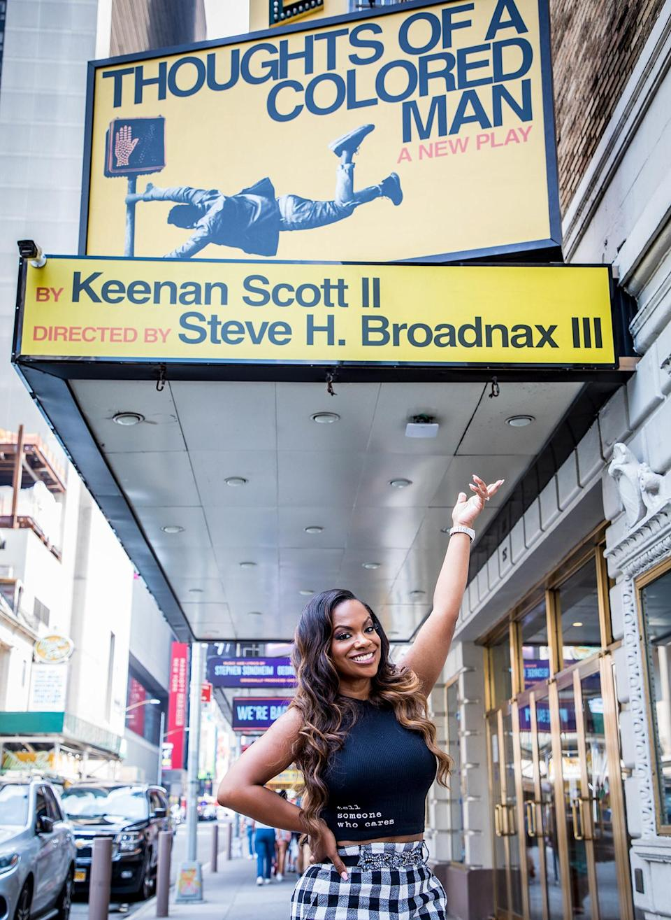 <p>Kandi Burruss celebrates on Aug. 30 after joining the producing team of Broadway's <em>Thoughts of a Colored Man</em> in N.Y.C.</p>