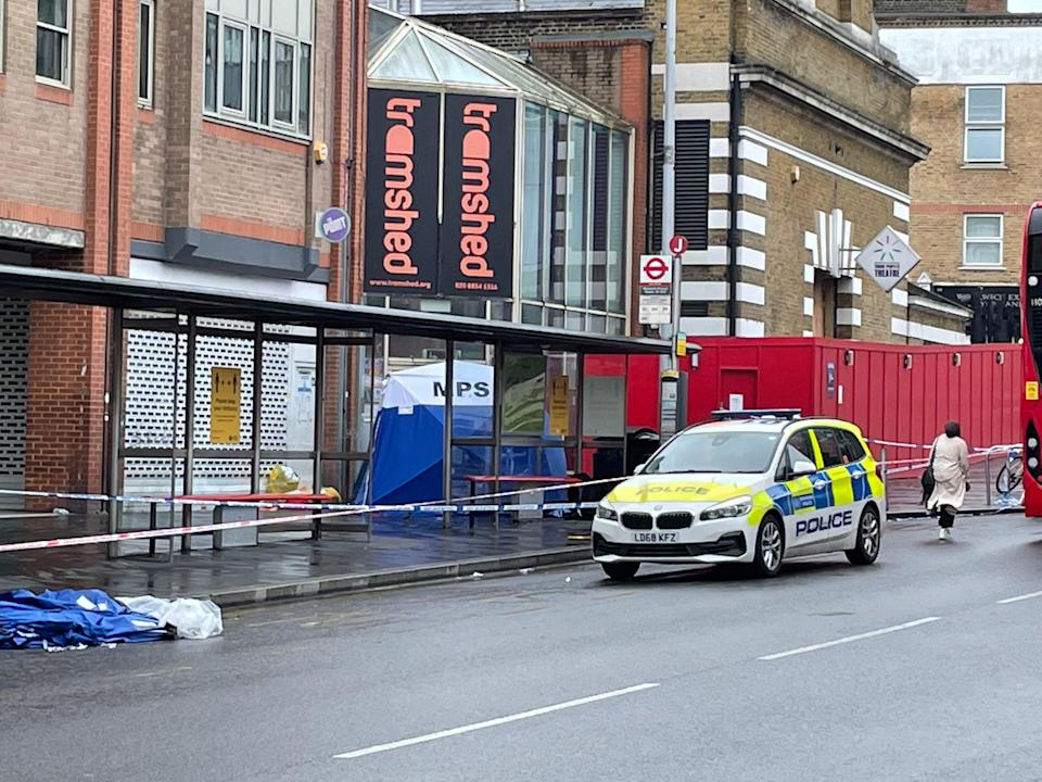 The scene in Woolwich on Tuesday morning (Rachael Burford)