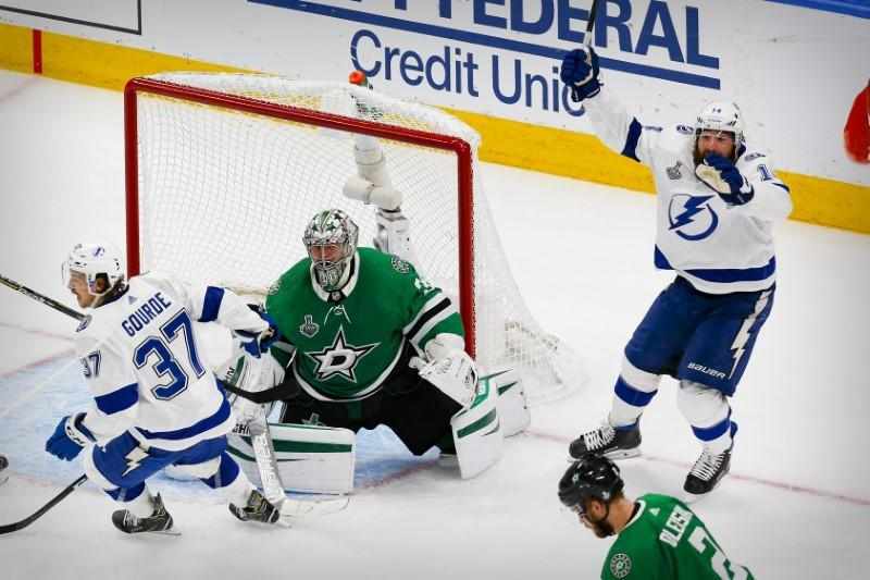 NHL: Stanley Cup Final-Tampa Bay Lightning at Dallas Stars