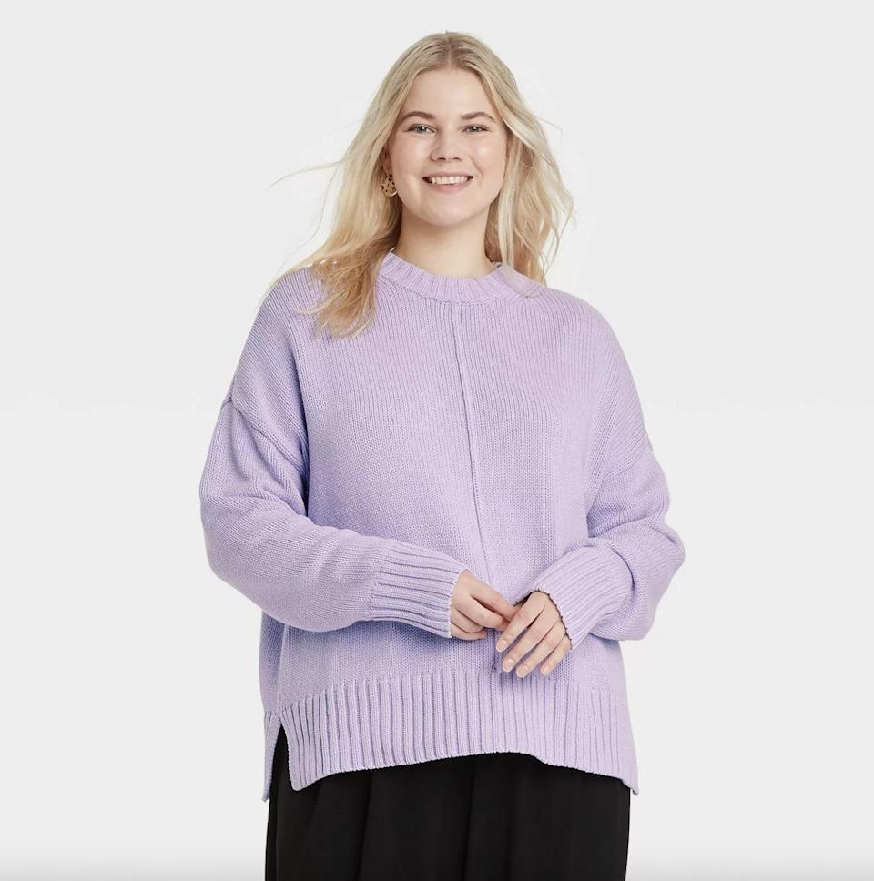 <p>Available in a handful of cheery colors, this <span>A New Day Crewneck Pullover Sweater</span> ($17, originally $20) will be a welcomed addition to your rotation. (Not to mention the backbone of your fall wardrobe.)</p>