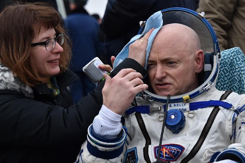 Scott Kelly's 340-day mission was spent testing the effects of long-term spaceflight ahead of a future mission to Mars (AFP Photo/Kirill Kudryavtsev)