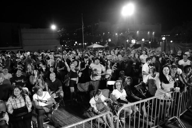 <p>Approximately 2,500 people — most of them off-duty cops, their families, and friends — watched and cheered as officers and sergeants from across the city proceeded to pummel one another for three one-minute rounds on Aug. 24, 2017. (Photo: Gordon Donovan/Yahoo News) </p>