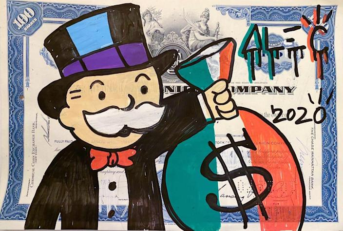 'Stock certificate Italy 2020' by Alec Monopoly
