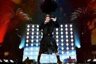 <p>Ricky Martin performs onstage at the MGM Grand Garden Arena during his concert with Enrique Iglesias (not pictured) in Las Vegas on Sept. 25.</p>