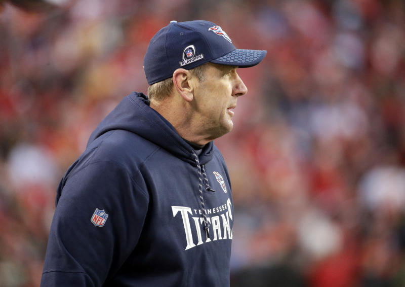 Tennessee Titans head coach Mike Mularkey's job security was under speculation before Saturday's game. (AP)