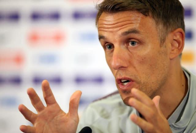 Phil Neville's mother Jill, who had been Bury's club secretary, resigned from her job on Friday (Nigel French/PA)
