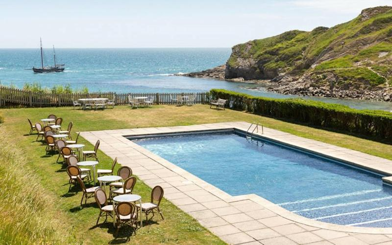 Rudds Lulworth Cove, Dorset - one of Britain's best hotels with outdoor pools