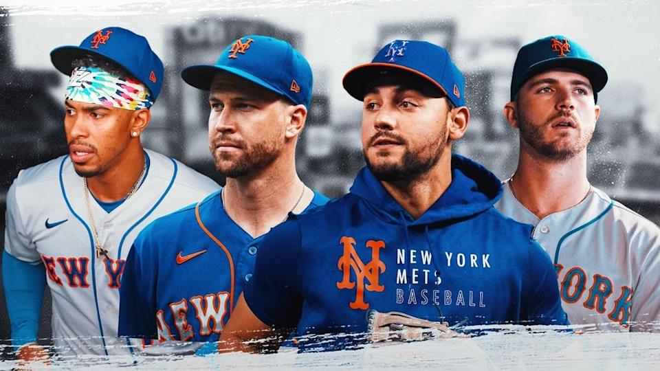 Francisco Lindor, Jacob deGrom, Michael Conforto, Pete Alonso Mets TREATED