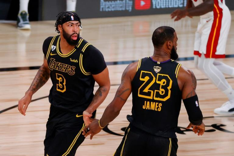Anthony Davis and LeBron James combined for 65 points in Los Angeles' game-two win over Miami in the NBA Finals, the first Lakers duo to combine for 60 points in a Finals game since Shaquille O'Neal and Kobe Bryant in 2002