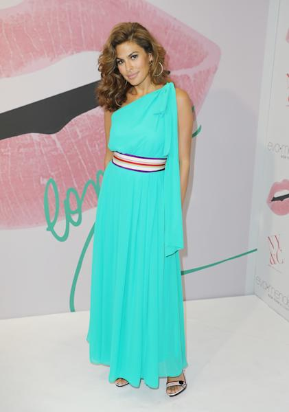 Eva Mendes stepped out a store opening in Miami.