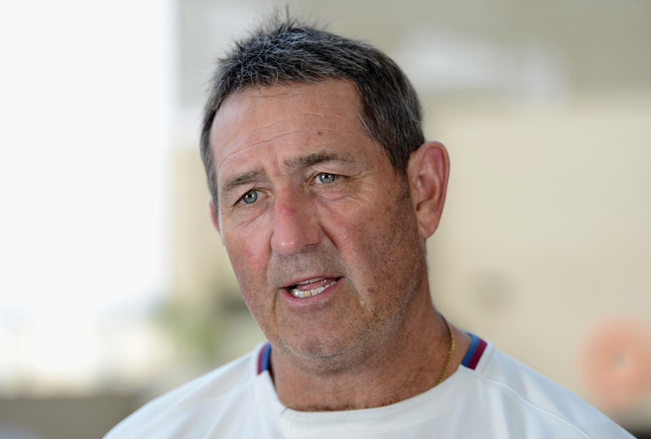 AHMEDABAD, INDIA - NOVEMBER 07:  England batting coach Graham Gooch speaks during a press conference at the team hotel on November 7, 2012 in Ahmedabad, India.  (Photo by Gareth Copley/Getty Images)