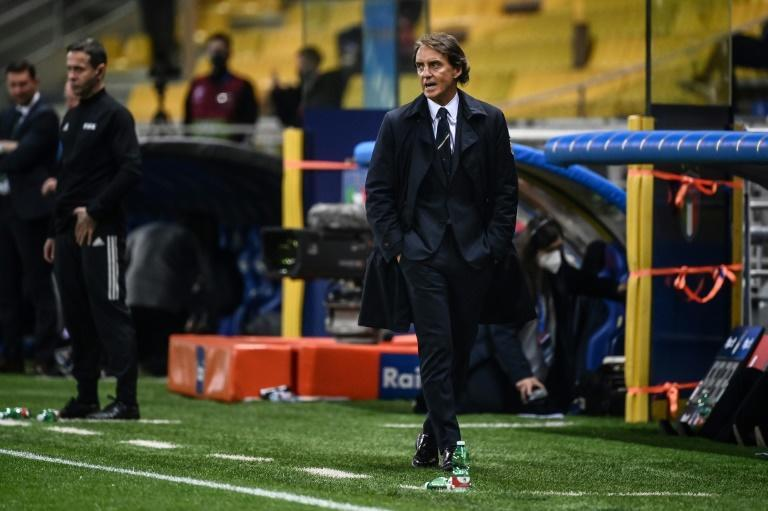 Coach Roberto Mancini took over after Italy failed to reach the 2018 World Cup