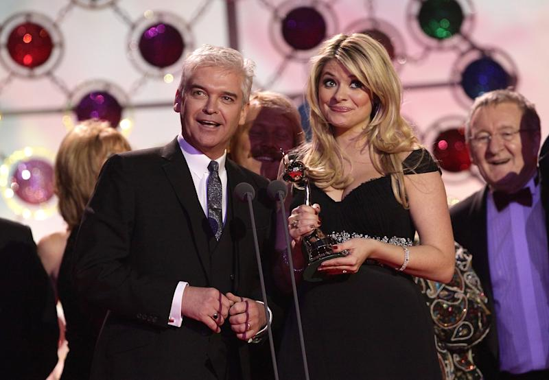 Phillip Schofield and Holly Willoughby during the 2011 National Television Awards at the O2 Arena, London.