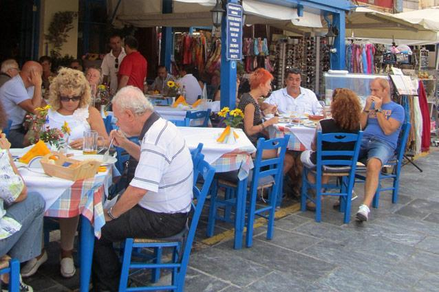A street cafe in Old Town, Chania