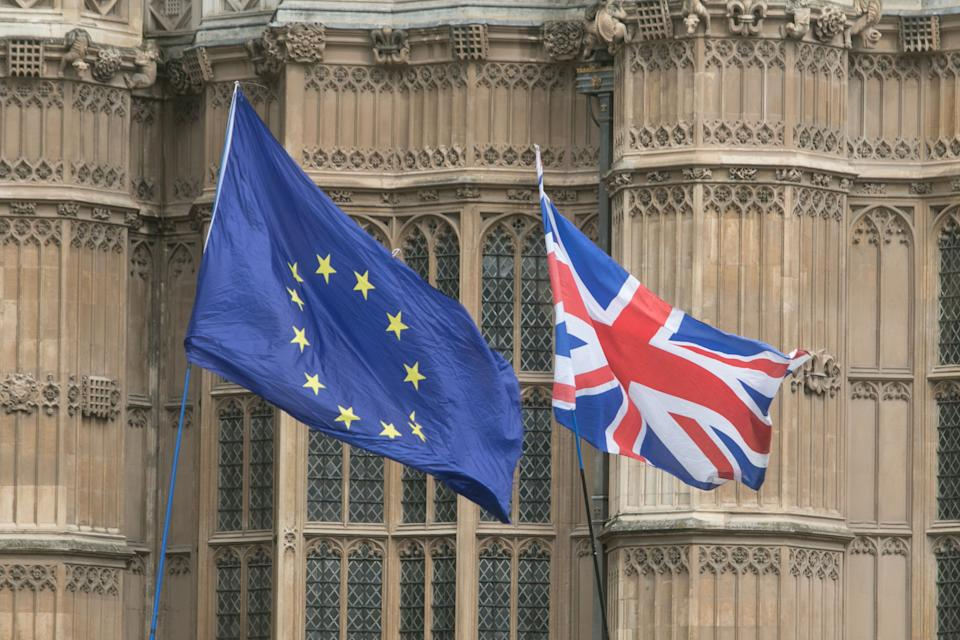 Flags of Europe and United Kingdom (Photo: Amer Ghazzal via Getty Images)
