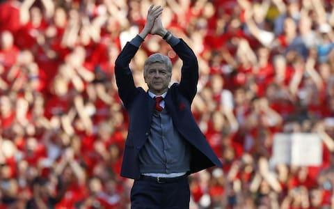 <span>Wenger wants his successor to uphold the values of the club</span> <span>Credit: AFP </span>