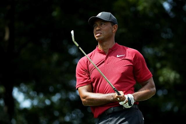 Tiger Woods of the United States plays a shot on the 11th hole during the final round of The Northern Trust on August 26, 2018 at the Ridgewood Championship Course in Ridgewood, New Jersey (AFP Photo/Gregory Shamus)