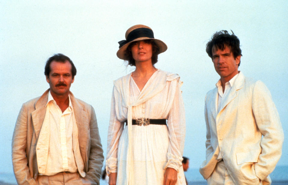 Jack Nicholson, Diane Keaton and Warren Beatty in a scene form the film 'Reds', 1981. (Photo by Paramount/Getty Images)