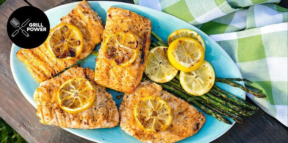 "<p>From shrimp and scallops to salmon and cod to calamari and lobster, literally anything goes when it comes to grilling seafood.</p><p>For more grilled seafood inspiration, check out our <a href=""https://www.delish.com/cooking/recipe-ideas/g3359/grilled-salmon/"" rel=""nofollow noopener"" target=""_blank"" data-ylk=""slk:best-ever grilled salmon recipes"" class=""link rapid-noclick-resp"">best-ever grilled salmon recipes</a>, and our <a href=""https://www.delish.com/cooking/g2175/how-to-grill-fish-on-a-gas-grill/"" rel=""nofollow noopener"" target=""_blank"" data-ylk=""slk:guide on how to grill fish"" class=""link rapid-noclick-resp"">guide on how to grill fish</a>.</p>"