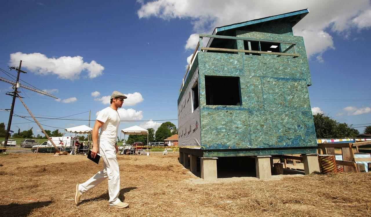 Brad Pitt Brings the Tiny Home Trend to New Orleans for Hurricane Katrina's 10th Anniversary