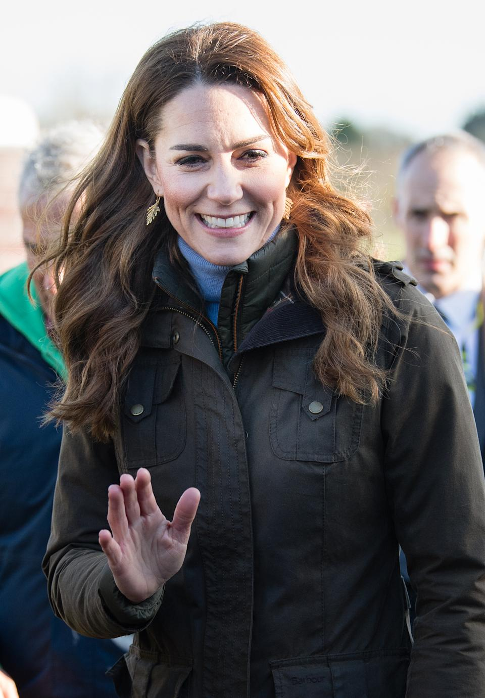 NEWTOWNARDS, NORTHERN IRELAND - FEBRUARY 12: Catherine, Duchess of Cambridge visits at The Ark Open Farm on February 12, 2020 in Newtownards, Northern Ireland. This visit is part of her Early Years Foundation Survey.  (Photo by Samir Hussein/WireImage)