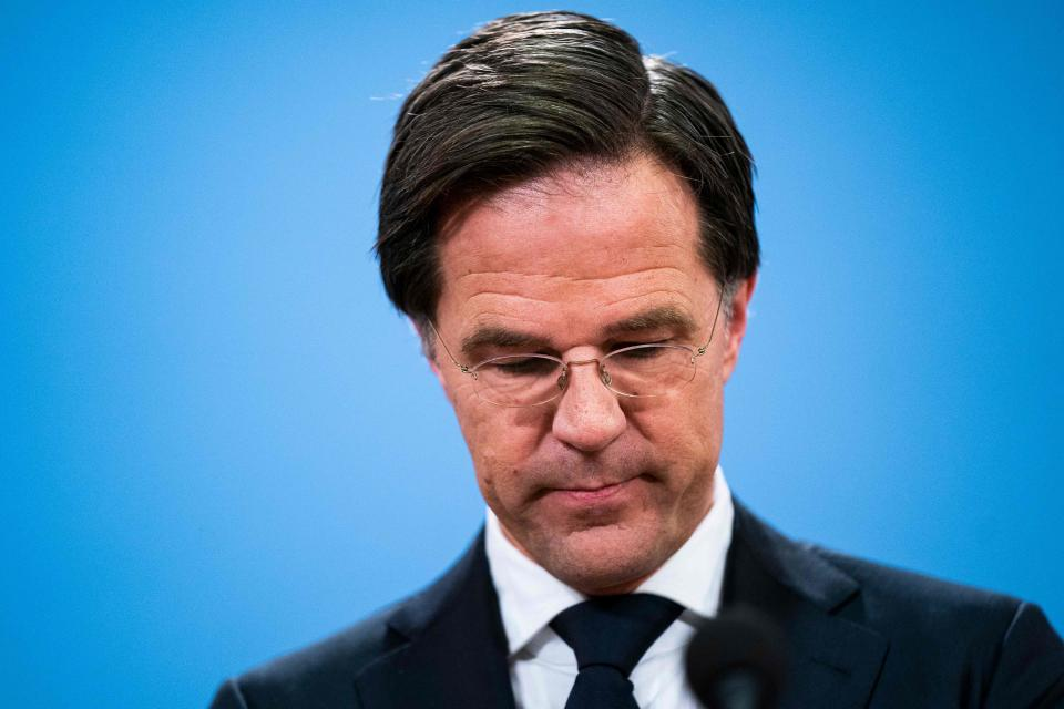 <p>Mark Rutte handed his resignation to King Willem-Alexander</p> (ANP/AFP via Getty)