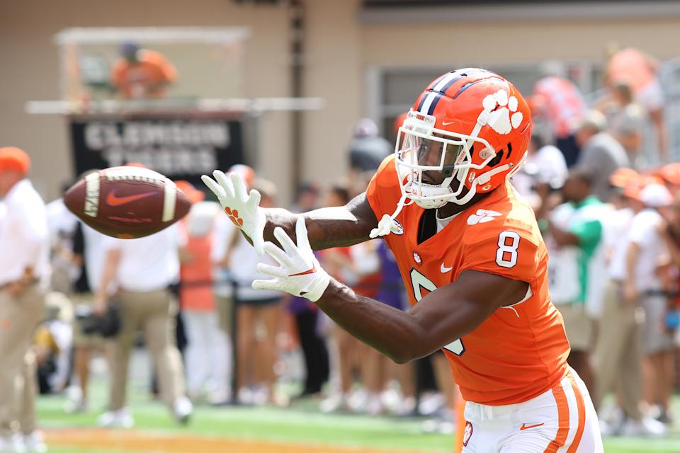 Wide receiver Justyn Ross and Clemson are off to slower starts to the season. (Photo by John Byrum/Icon Sportswire via Getty Images)