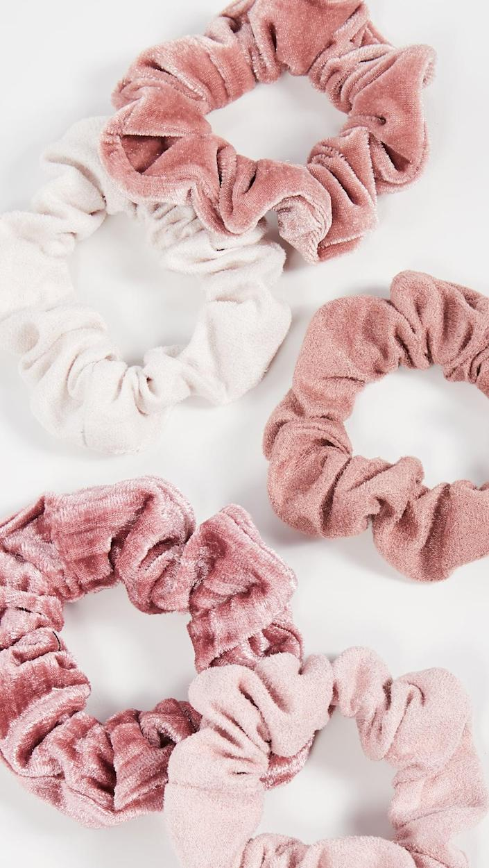 <p>These <span>Kitsch Matte Velvet Scrunchies</span> ($12) are a great stocking stuffer.</p>