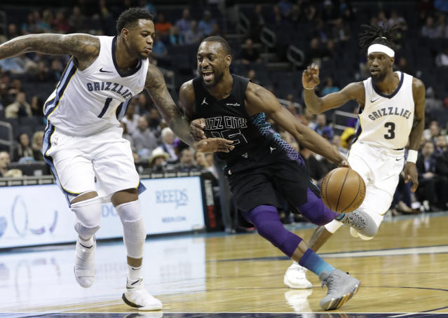 Kemba Walker couldn't be stopped against the Grizzlies on Thursday. (AP)