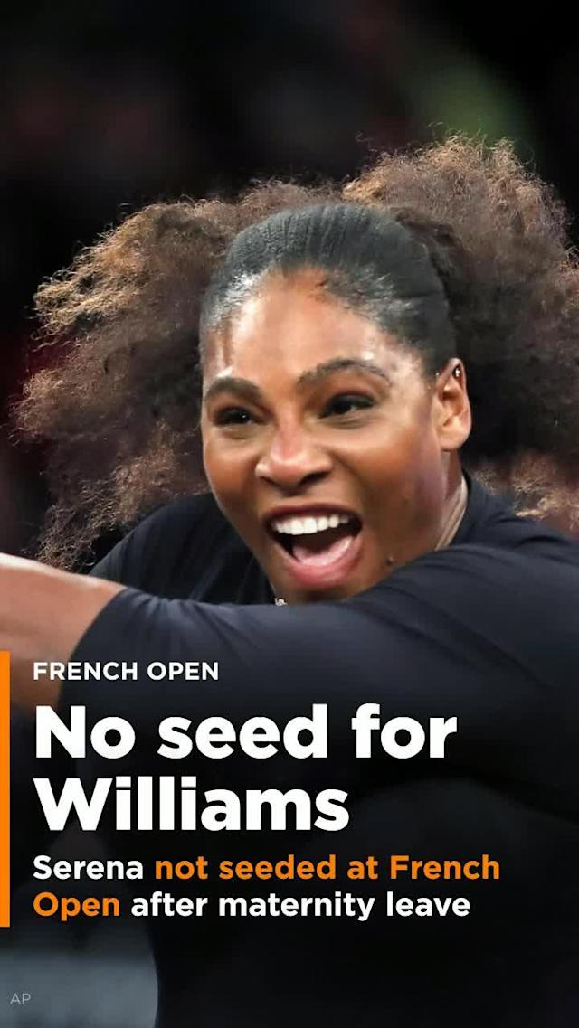 Serena Williams is slated to compete at the French Open later this month in her first Grand Slam event since since taking maternity leave to give birth to her daughter in September.
