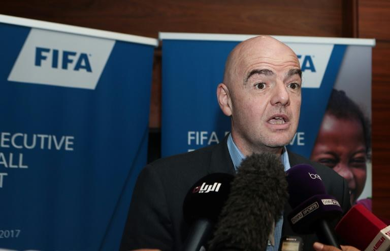 FIFA President Gianni Infantino, pictured in February 2017, says that the minor hiccups they're experiencing in making video assistant referees a reality has more to do with the training of the referees