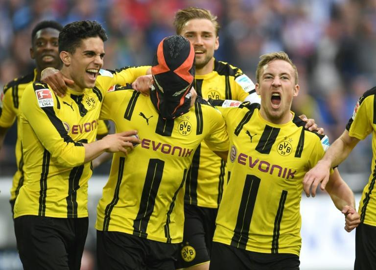 Pierre-Emerick Aubameyang's (centre) use of masks in goal celebrations was criticised by German midfielder Toni Kroos