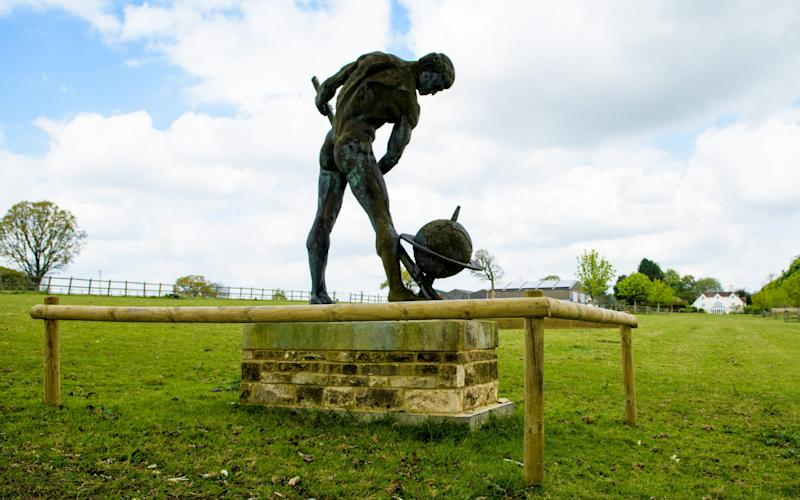 The statue of Greek mathematician Archimedes in the village of Ellisfield - Anthony Upton