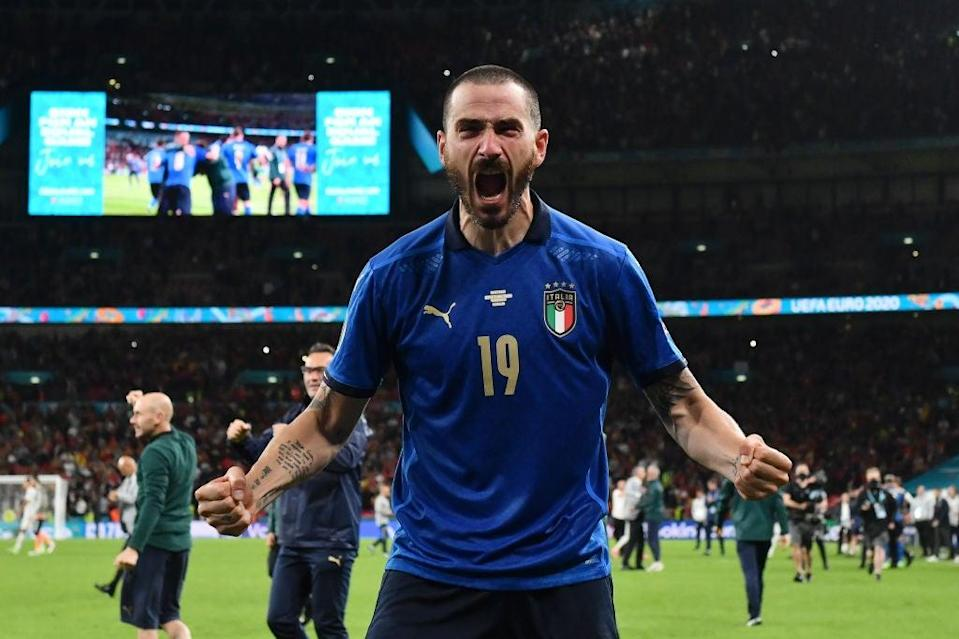 Leonardo Bonucci and Italy saw off Spain in a semi-final shootout at Wembley (Getty Images)