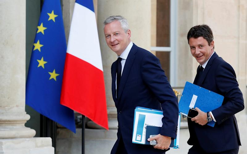 Benjamin Griveaux, right, is a close ally of President Emmanuel Macron and is one of the drivers of France's planned economic reforms - REUTERS