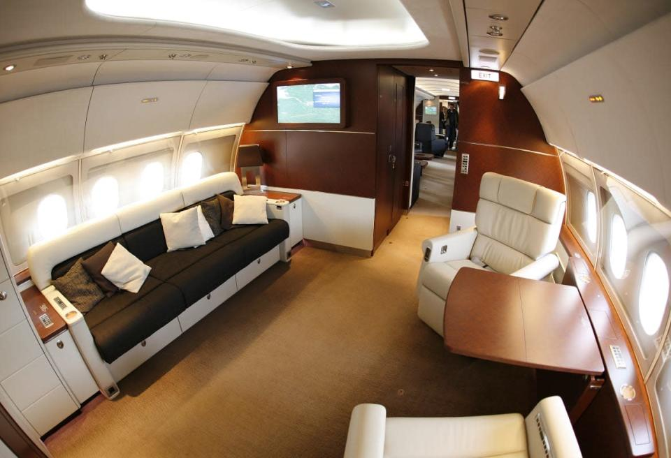 """<div class=""""inline-image__caption""""><p>Private jets let the well-heeled fly in luxury—and give flight attendants a glimpse of the high life.</p></div> <div class=""""inline-image__credit"""">Reuters</div>"""