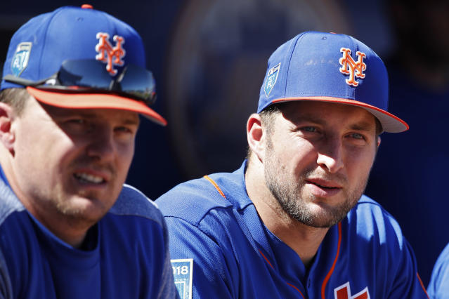 Tim Tebow couldn't handle Max Scherzer again. (Getty Images)