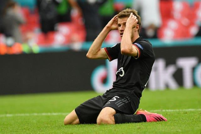 Thomas Muller missed a fine chance to draw Germany level.