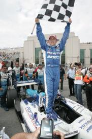 """<a class=""""link rapid-noclick-resp"""" href=""""https://www.rotoworld.com/auto-racing/nascar/player/48510/aj-allmendinger"""" rel=""""nofollow noopener"""" target=""""_blank"""" data-ylk=""""slk:AJ Allmendinger"""">AJ Allmendinger</a> celebrates after winning the Grand Prix of Toronto in 2006. (Photo by Rene Johnston/Toronto Star via Getty Images)"""