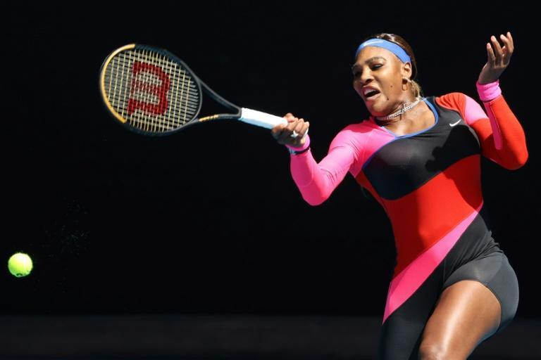 Serena Williams dropped her first set of the tournament against Belarus's Aryna Sabalenka