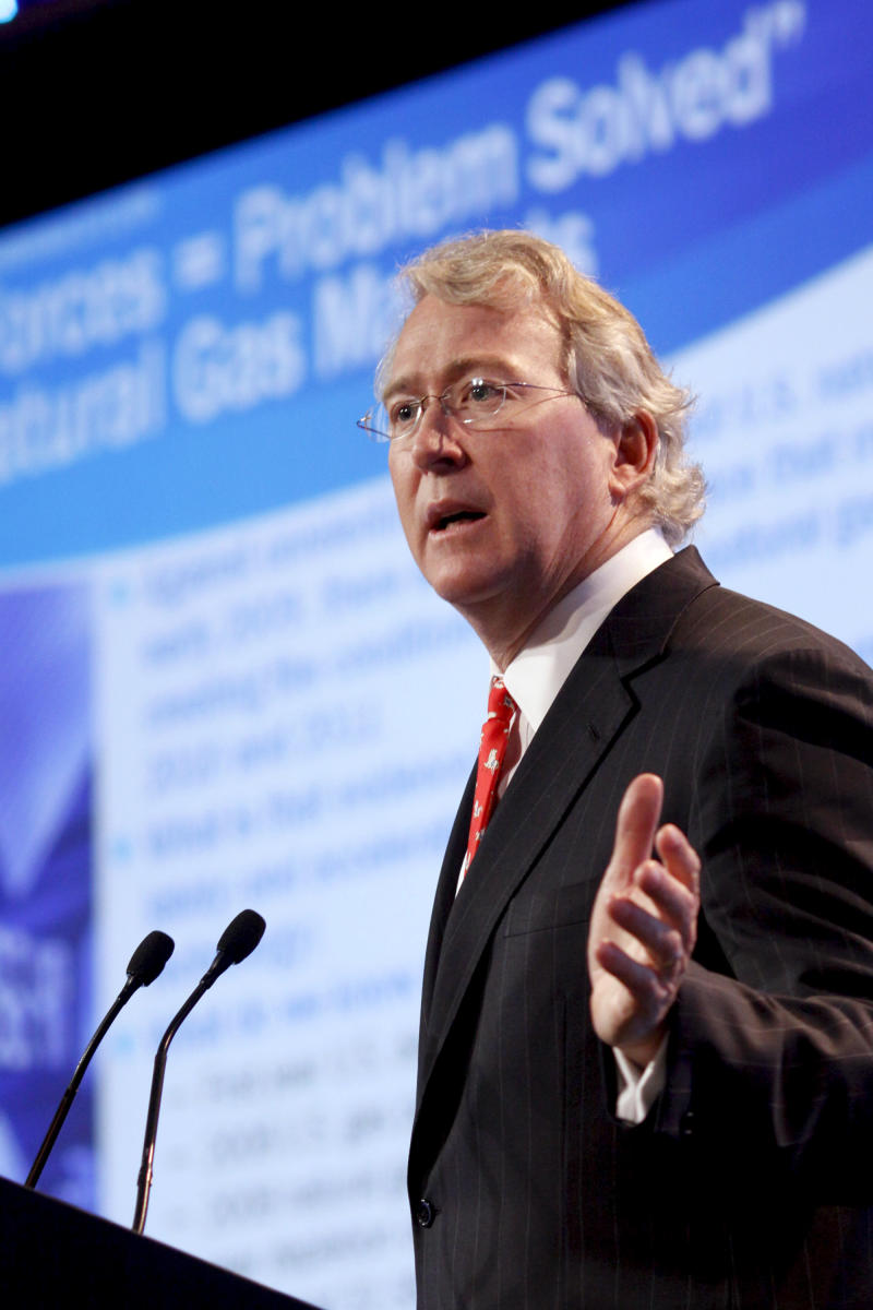 Aubrey McClendon, Chairman and Chief Executive Officer, Chesapeake Energy, speaks during the Cambridge Energy Research Associates CERAWeek 2009 conference in Houston, Texas, U.S., on Wednesday, Feb. 11, 2009. The conference runs through Feb. 13. Photographer: F. Carter Smith/Bloomberg News