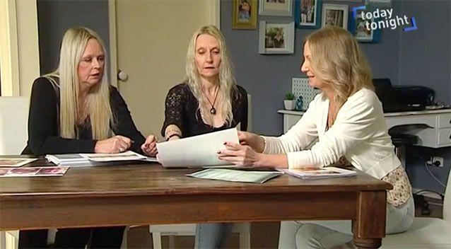 Deb Collins and Michelle Abery with Niki Richardson. Source: Today Tonight.