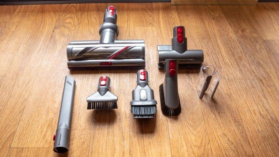 This vacuum comes with a ton of attachments.