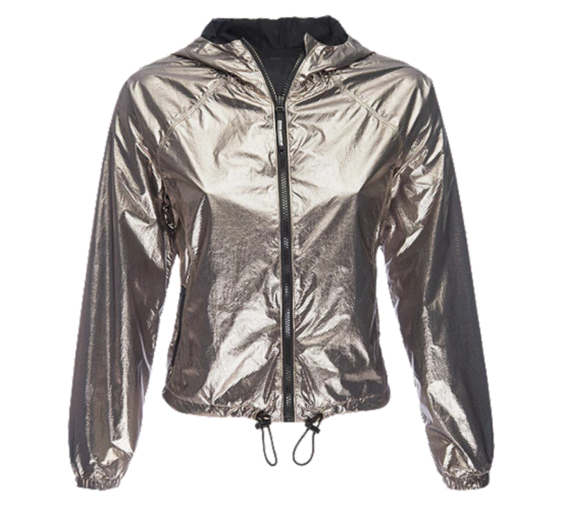 Good American Women's Metallic Jacket - Bronze