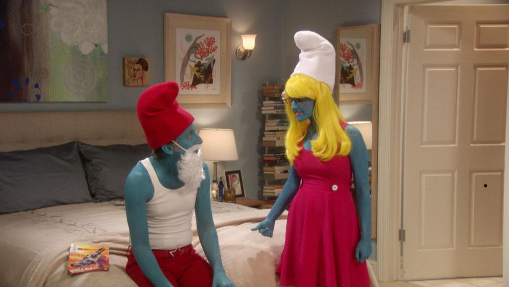 """<b>""""The Big Bang Theory"""" </b>-- """"The Holographic Excitation""""<br>Thursday, 10/25 at 8 PM on CBS<br><br>The gang  celebrates Halloween at Stuart's comic-book store. Former astronaut Buzz  Aldrin has a cameo in the episode."""