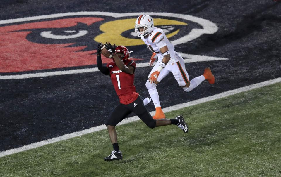Louisville WR Tutu Atwell is a big play waiting to happen. (Photo by Andy Lyons/Getty Images)