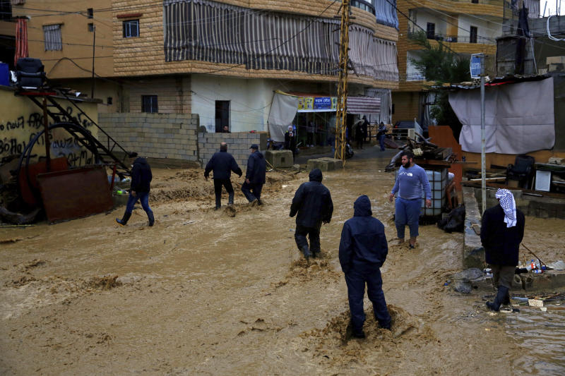Lebanon: Winter storm adds to Syrian refugees' suffering