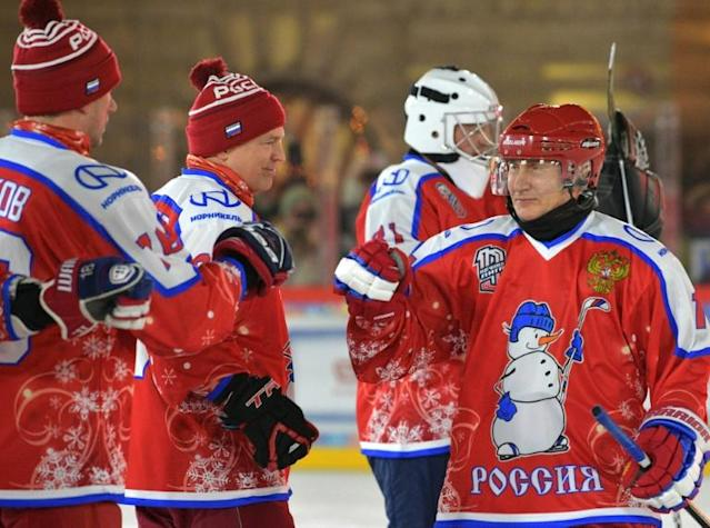 Since Putin discovered ice hockey the sport has become more popular among senior officials and businessmen (AFP Photo/Alexey DRUZHININ)