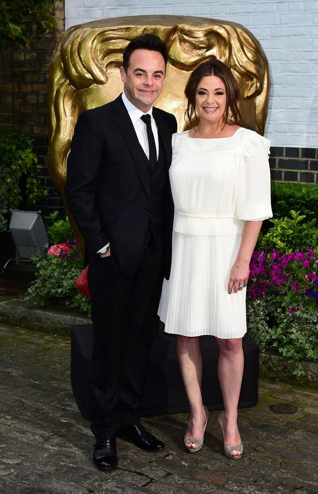 Ant McPartlin and then wife Lisa Armstrong